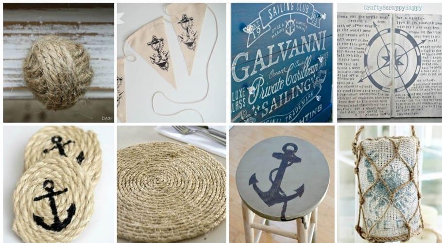Ejemplos DIY con motivos marineros
