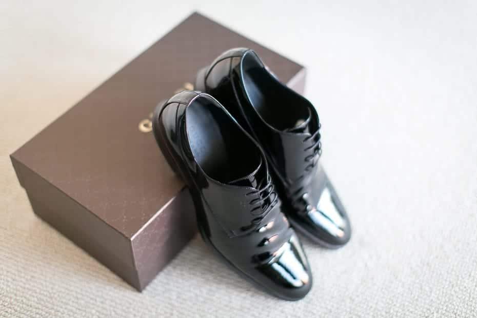 zapato de cuero hombre caja