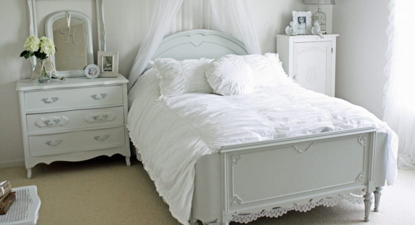 Dormitorio estilo gustaviano