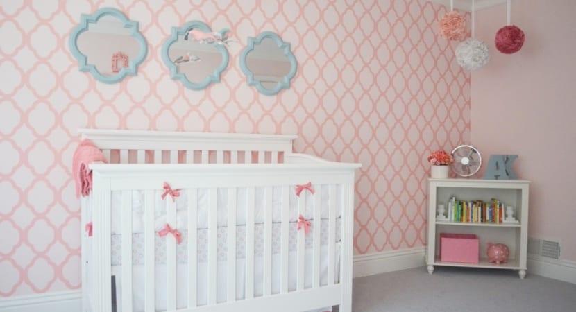 Estarcido dormitorio bebe