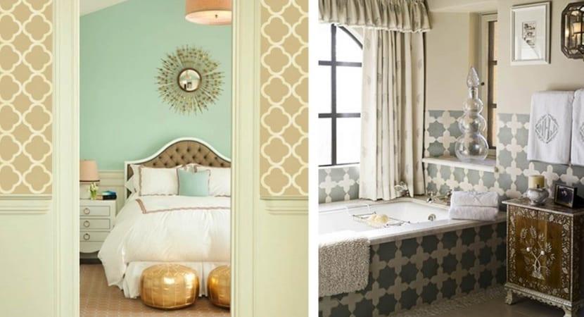 Estarcido y decoracion marroqui