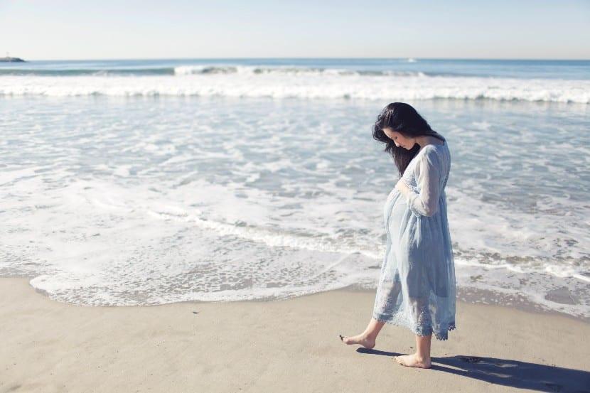 Beneficios de la playa en el embarazo