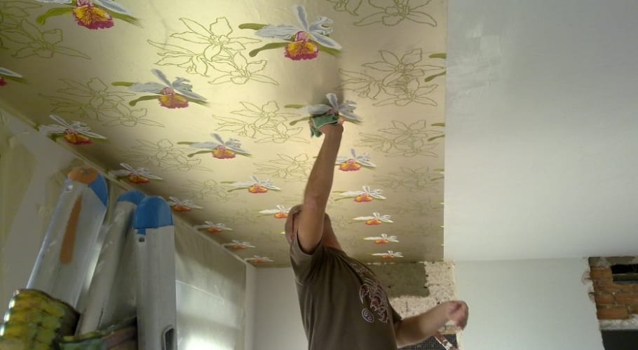 Colocacion papel sobre techo
