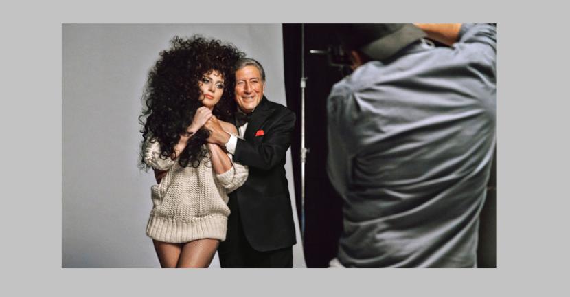 Lady Gaga y Tony Brennett para H&M