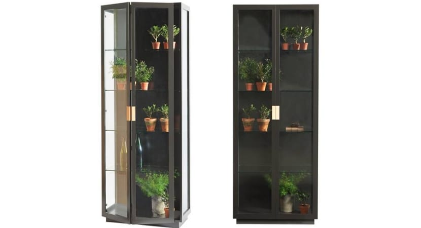 Asplund Frame cabinets in glass