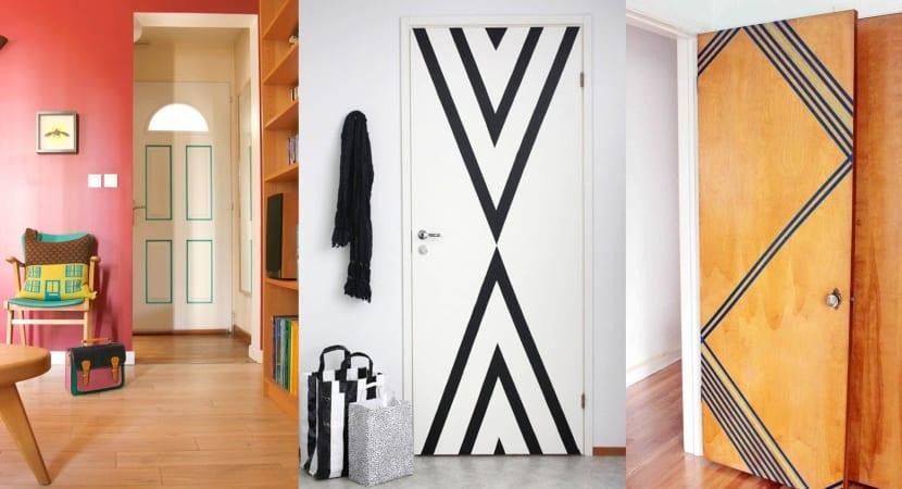 Puertas con Washi Tape