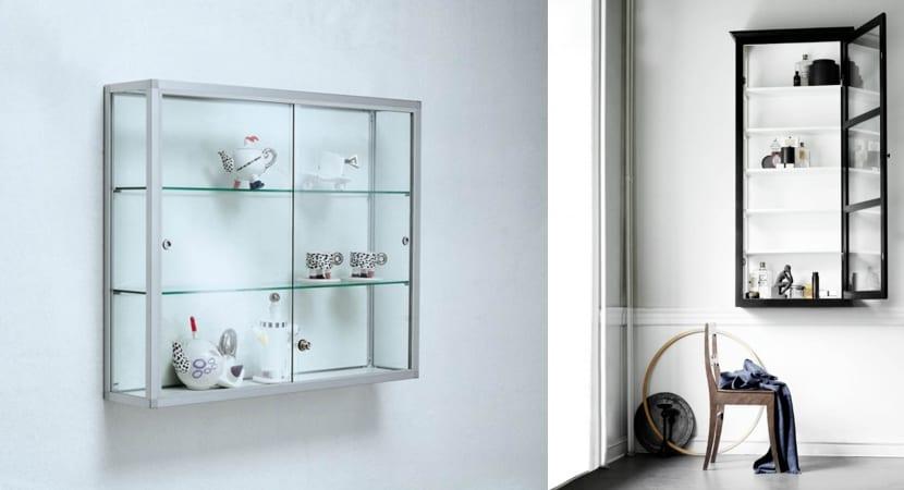 Vitrinas de pared minimalistas