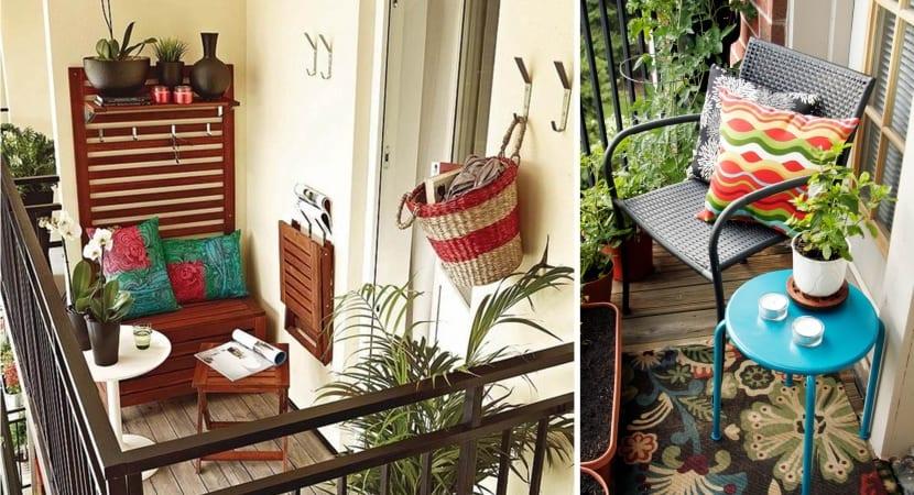 Balcones mini decorados