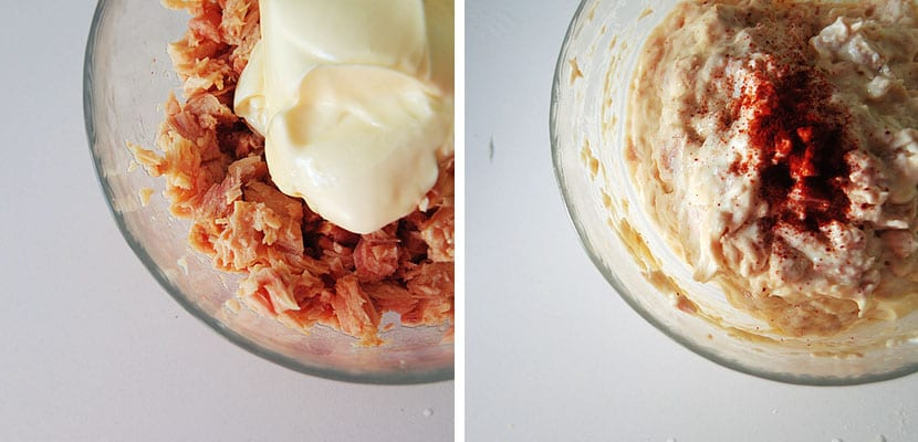 Atún mayonesa y pimentón