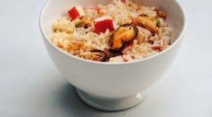 Ensalada de arroz a la marinera