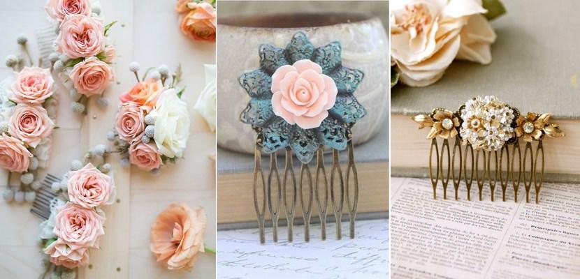 DIY peinetas con flores