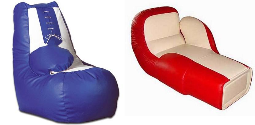 Puff en forma de guante de boxeo