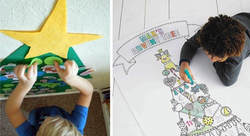 Arboles navideños - DIY infantil