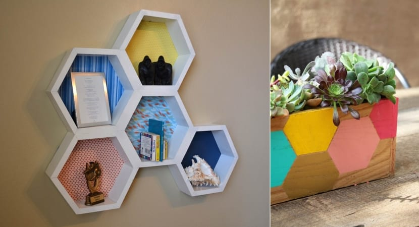 Decoracion DIY con hexagonos