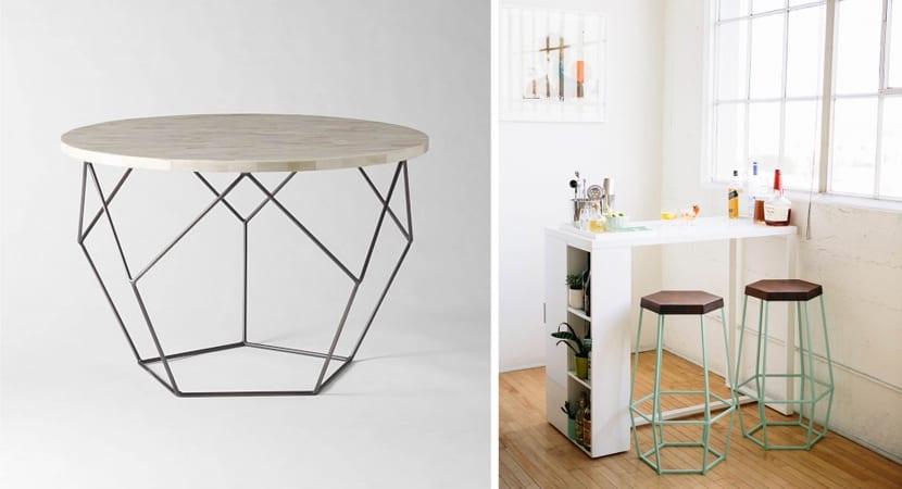 Muebles con formato hexagonal