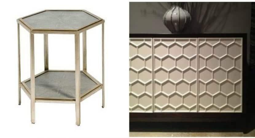 Muebles formato hexagono