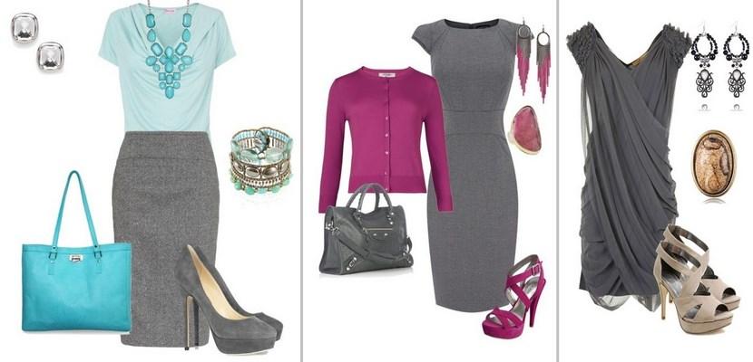 Colores que combinen con el gris good saln con pared rosa - Combinaciones con gris ...