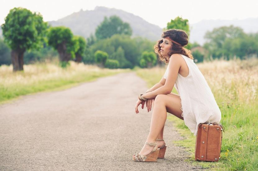 mujer viajar