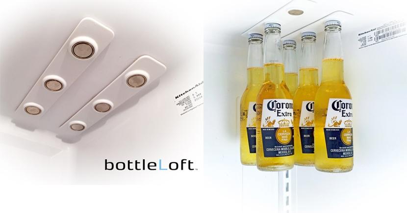 Sostenedor de botellas para el frigorífico