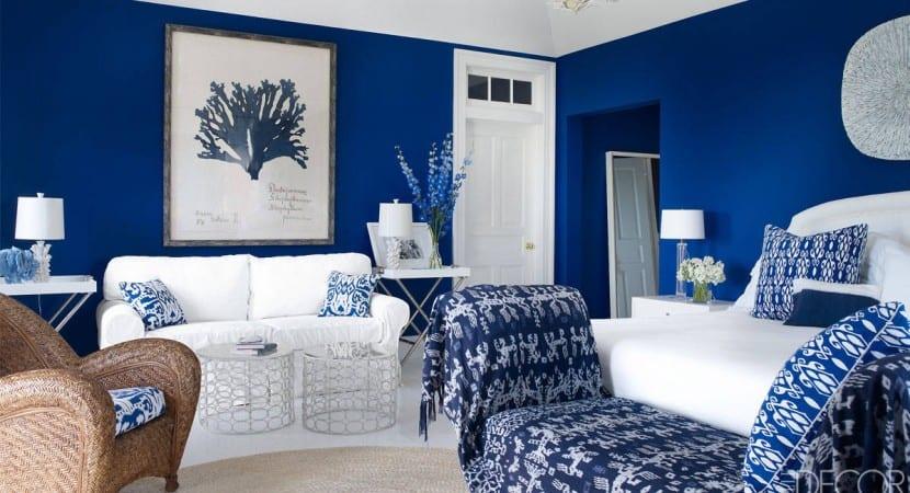 Decoracion en azul estilo griego
