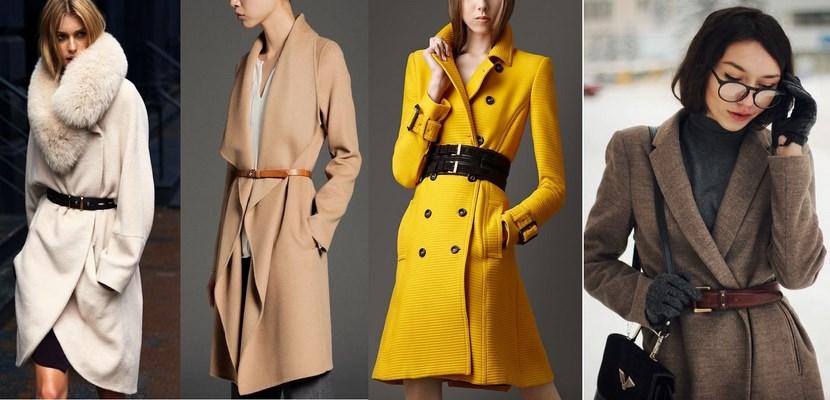 Cinturones sobre abrigos y capas