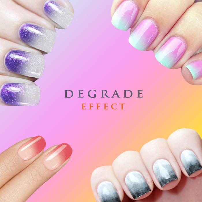 degradado en las uñas