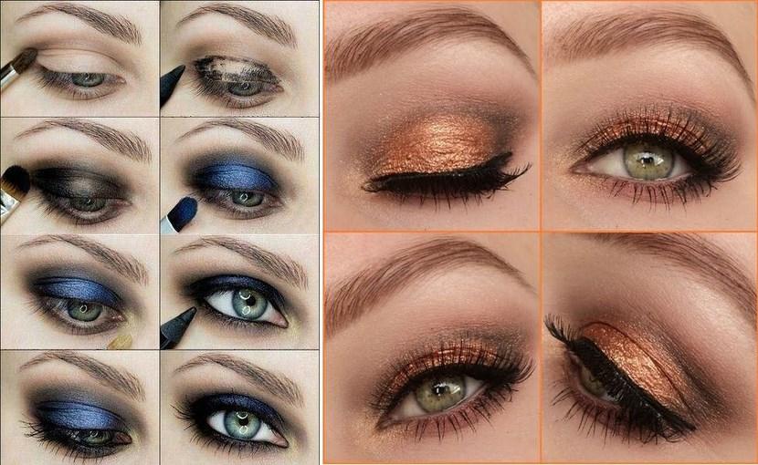 Dos ejemplos de maquillaje de noche