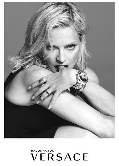 Imagen de la nueva campaña de Madonna para Versace