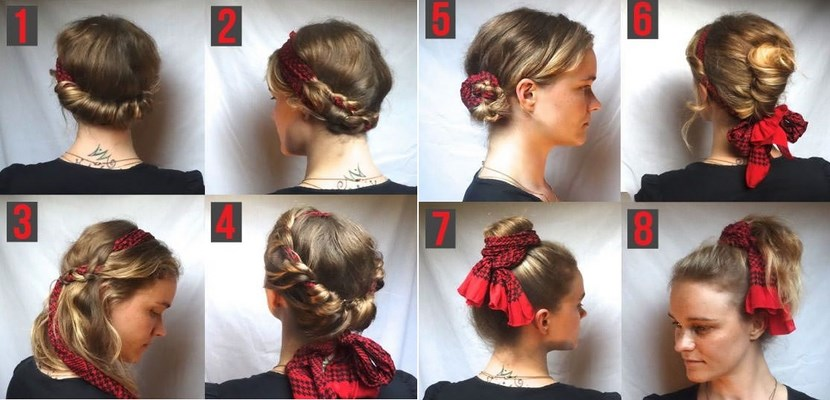 Peinados diferentes con un pañuelo
