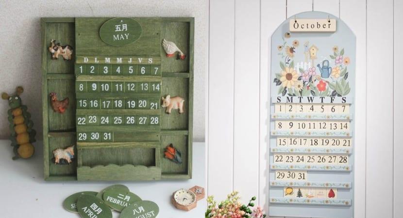 Calendarios de madera permanentes