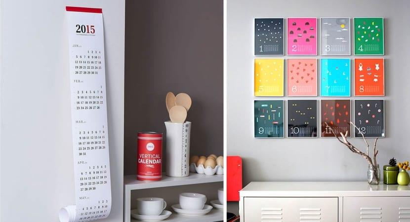 Calendarios imprimibles para hogar