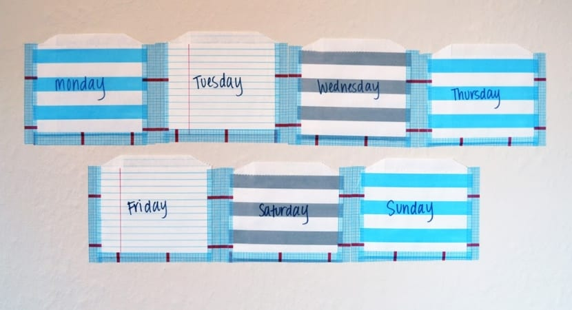 Week Planner en Washi Tape