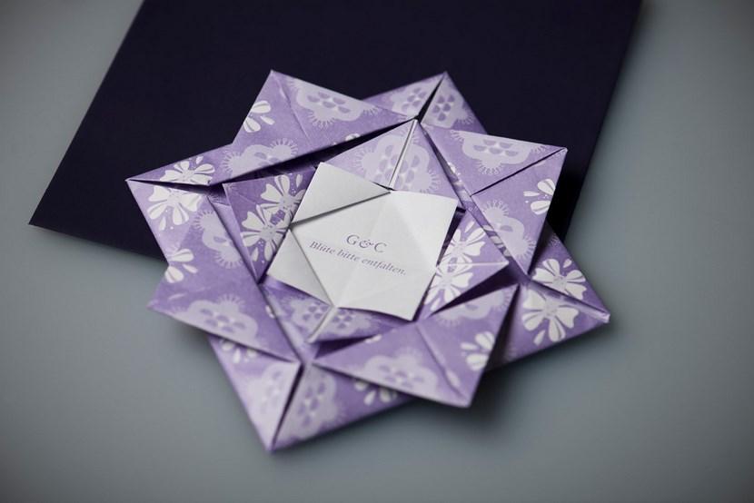 Invitaciones de boda en origami