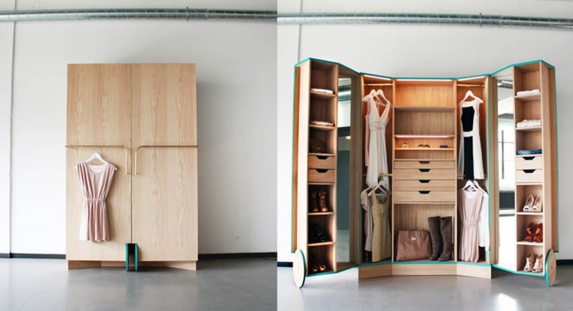Mobiliario que solventa el espacio que nos falta for Walking closet modernos pequenos
