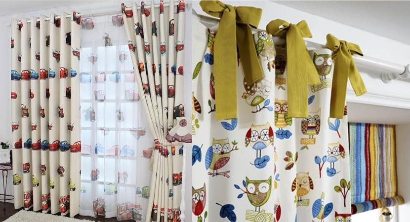 Complementos y muebles en chenilla renovada for Telas para cortinas infantiles