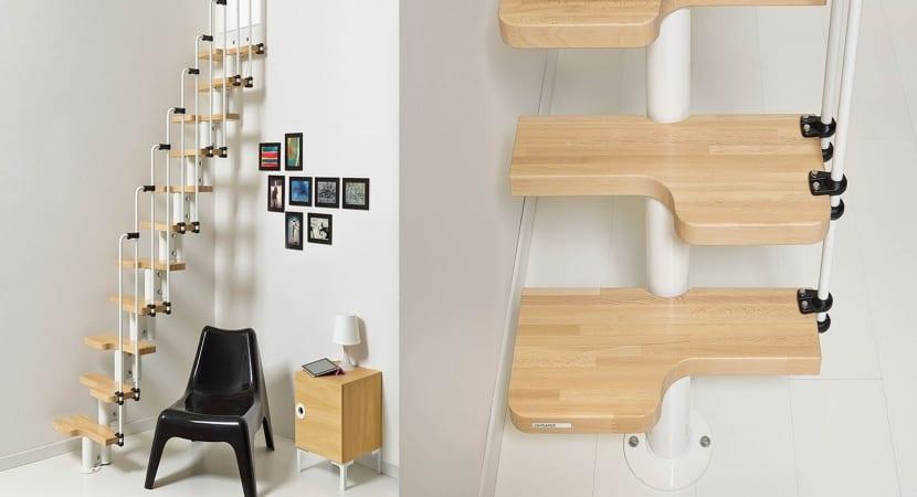 Escaleras plegable para espacios reducidos