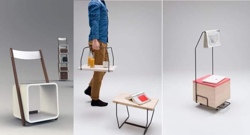 Muebles auxiliares polivalentes
