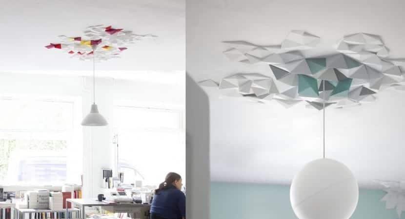 Plafon para lampara disenado con rombos