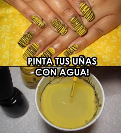 Las uñas con agua