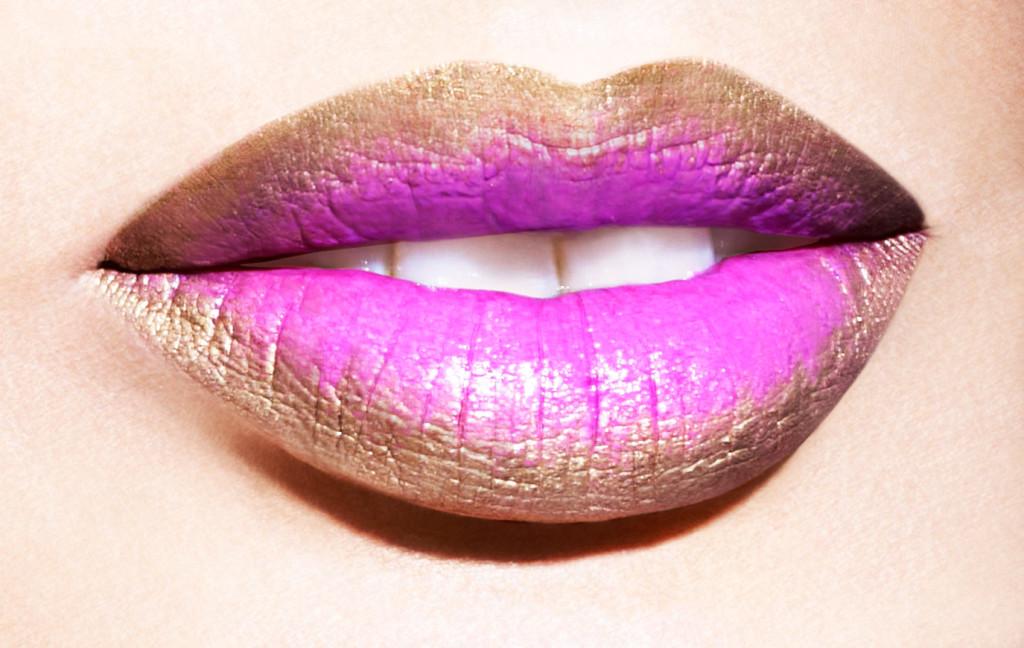 labios dos colores marron