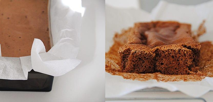 Pastel de chocolate, fresas y nata
