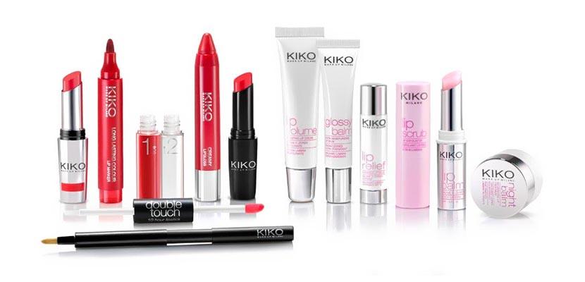 Productos de labios de Kiko