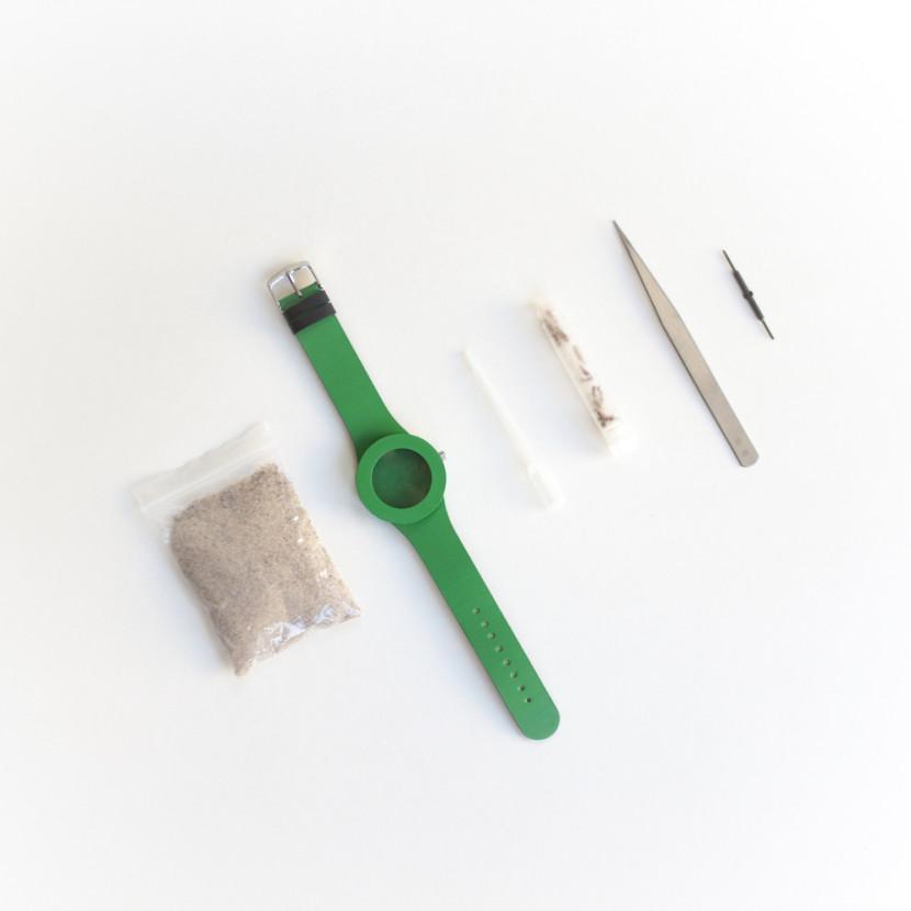 reloj con hormigas herramientas