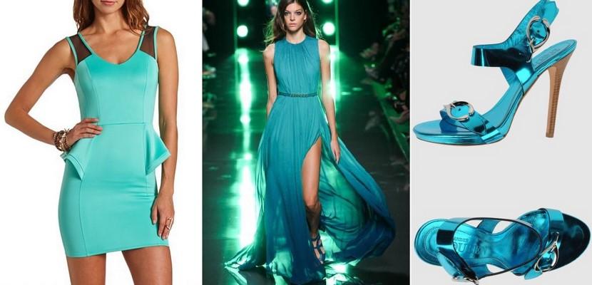 El color Scuba Blue en moda