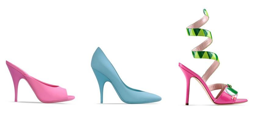 Zapatos de tacón en colores pastel