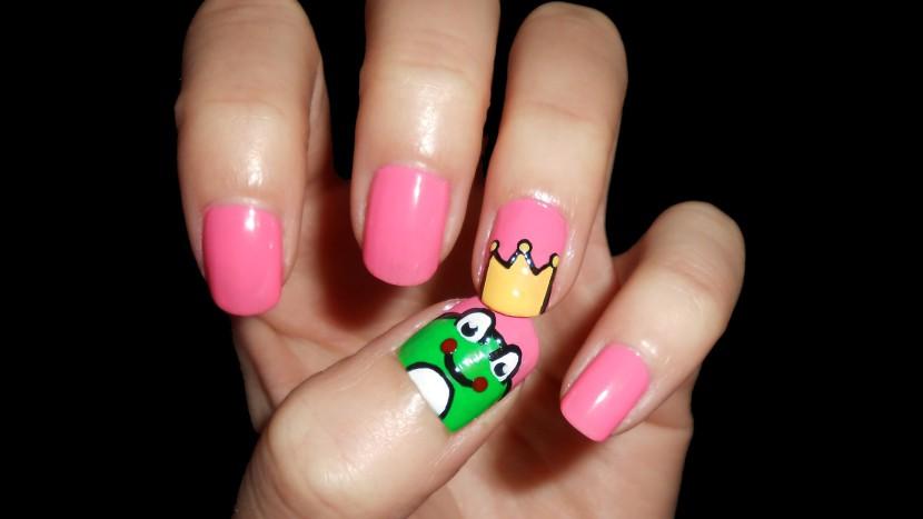 Diseño de uñas con ranas
