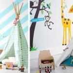 Tipis en dormitorios infantiles