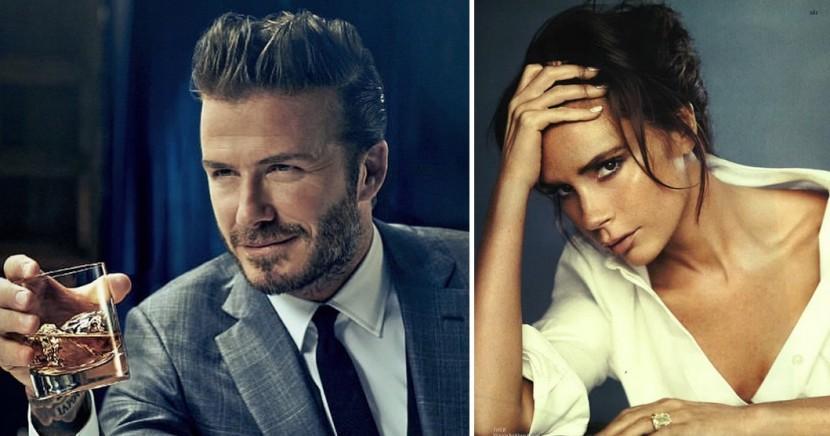 Montaje de David y Victoria Beckham