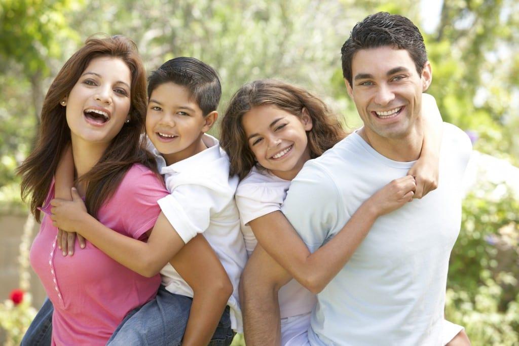 familia contenta