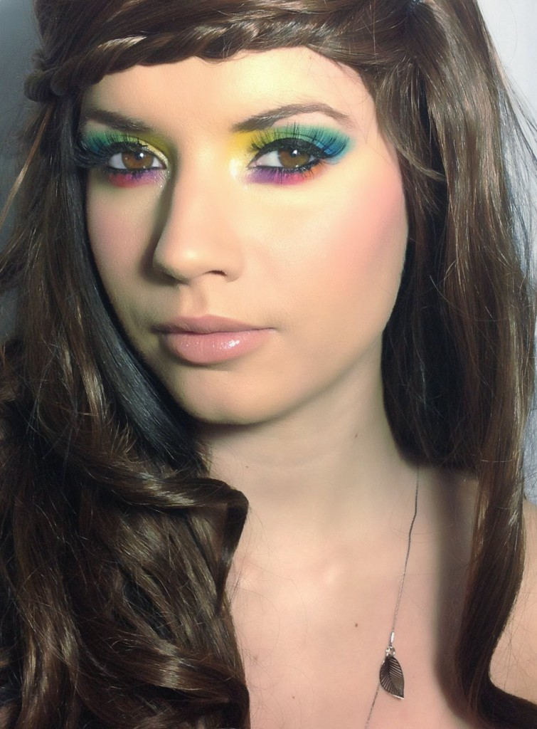 maquillaje hippie color